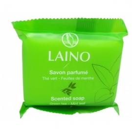 Laino Savon Parfume Thé Vert - Feuilles de Menthe Pain de 75 g