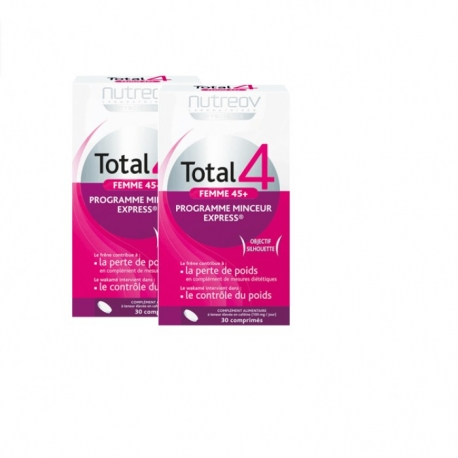 Nutreov Physcience Total 4 Minceur Femme 45+ 2 x 30 Comprimes