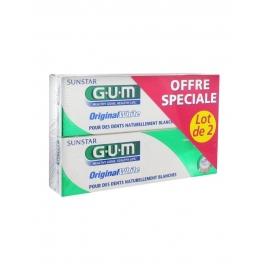GUM Dentifrice Original White  2 x 75 ml