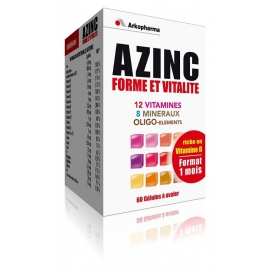 Arkopharma Azinc Forme et Vitalite 60 Gelules