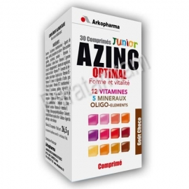 AZINC JUNIOR VITAMINES MINERAUX OLIGO-ELEMENT GOUT CHOCOLAT 30 COMPRIMES A CROQUER