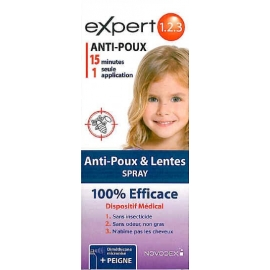 Novodex Expert 1.2.3 Anti-poux Spray 200 ml
