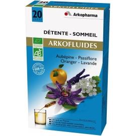 Arkopharma Arkofluides Bio Détente - Sommeil 20 Ampoules
