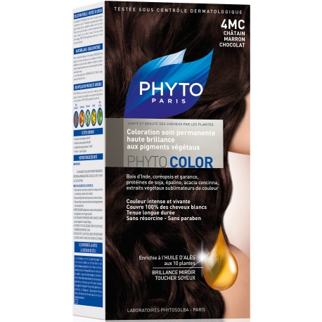 Phyto PhytoColor coloration permanente 4MC Chatain Marron Chocolat