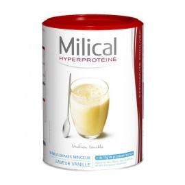 Milical Hyperprotéiné Milk-shakes Saveur Vanille 18 Préparations 540 g