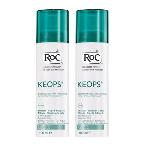 Roc Keops Deodorant Spray Fraicheur 2 X 100 ML