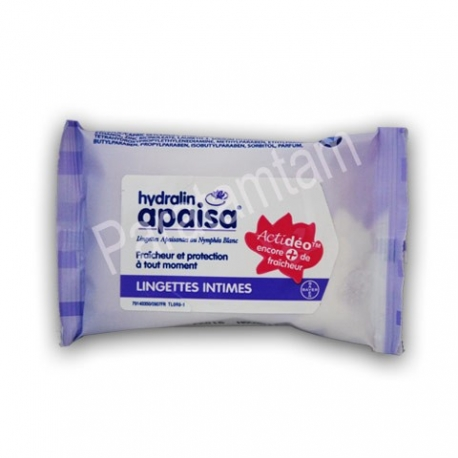 HYDRALIN APAISA LINGETTES INTIMES FORMAT POCHE 10 LINGETTES