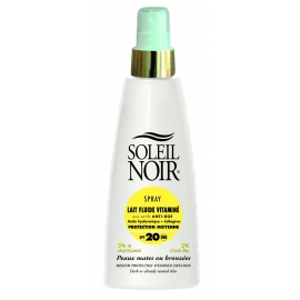 Soleil Noir Lait Fluide Vitamine Spf 20 Spray 150 ml