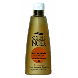 Soleil Noir Huile Vitaminée Indice 4 Bronzage Intense 150 ml