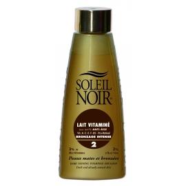 Soleil Noir Lait Vitaminé Ip 2 Bronzage Intense 150 ml