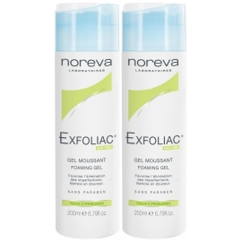 Noreva Exfoliac Gel Moussant  2 x 200 ml