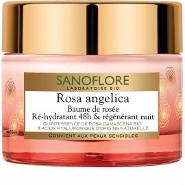 Sanoflore Rosa angelica - Baume de rosée Ré-hydratant 48h & régénérant nuit 50 ML