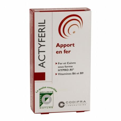 Codifra Actyferil - Apport en Fer 60 Gélules