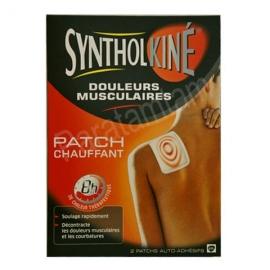 Synthol Syntholkine Douleurs Musculaire Patch Chauffant Petit Format 2 Patchs