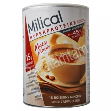 MILICAL HYPERPROTEINE BOISSONS MINCEUR SAVEUR CAPPUCCINO 18 PREPARATIONS