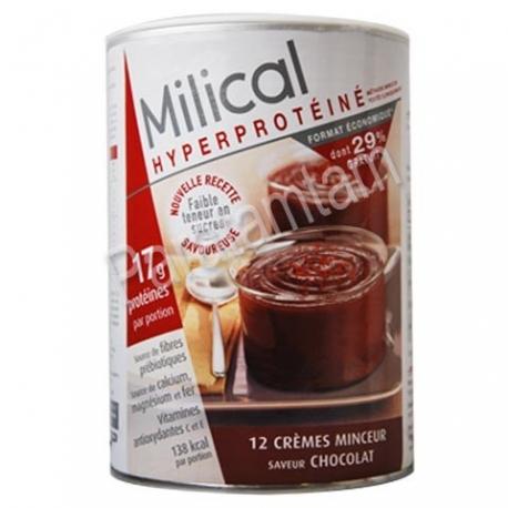 MILICAL HYPERPROTEINE CREMES MINCEUR SAVEUR CHOCOLAT 12 PREPARATIONS