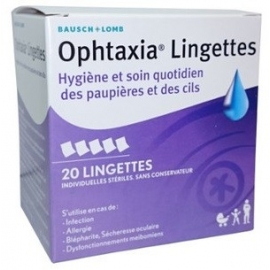 Bausch&Lomb Ophtaxia Lingettes x 20
