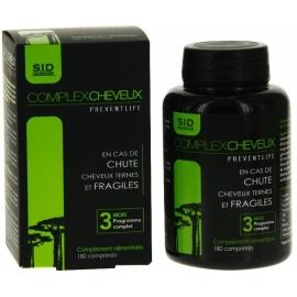S.I.D Nutrition Preventilife Complex Cheveux 180 Comprimés