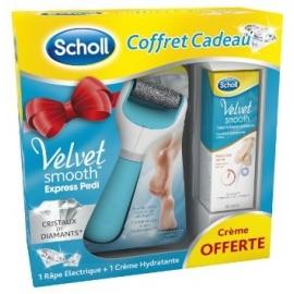 Scholl Velvet Smooth Râpe Electrique bleue + Crème hydratante quotidienne 60 ml