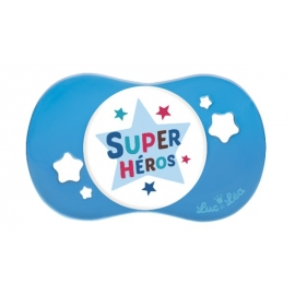 """Luc et Léa Sucette Symétrique """"Super Héros"""" + 18 mois"""