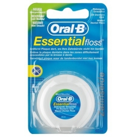 Oral-B Essential Floss Fil Dentaire Ciré 50 m