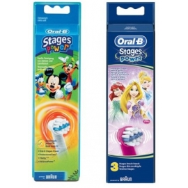 Oral-B Stages Power Brossettes de Rechanges Kids Fille x 3