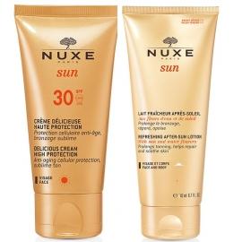 Nuxe Sun Coffret Crème Délicieuse SPF 30 50 ml + Lait Fraîcheur Après-Soleil 100 ml Offert