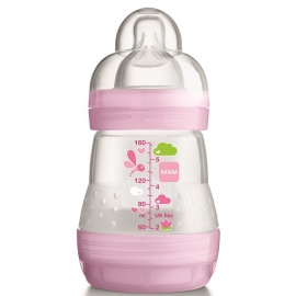 MAM Biberon Easy Start 0+ Mois Nature Sky Rose 160 ml