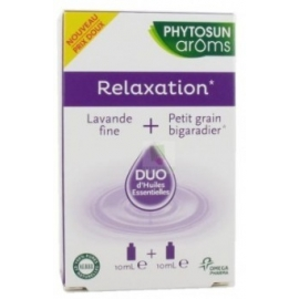 Phytosun Aroms Relaxation Duo d'Huiles Essentielles 2 x 10 ml