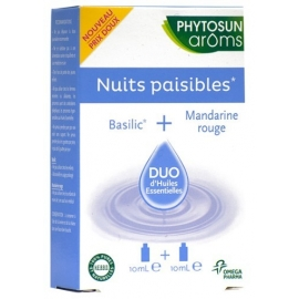 Phytosun Aroms Nuits Paisibles Duo d'Huiles Essentielles 2 x 10 ml