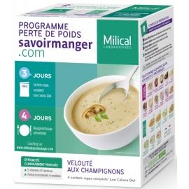 Milical Perte de Poids Velouté Aux Champignons 4 Sachets