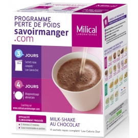 Milical Perte de poids Milk-Shake Chocolat 4 Sachets