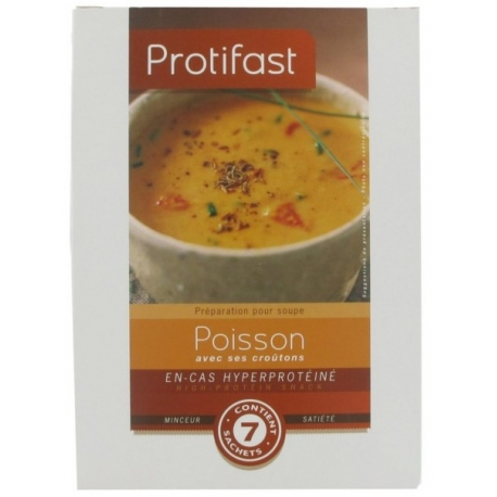 Protifast Velouté Poisson & Croûtons 7 Sachets