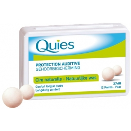 Quies Protection Auditive Cire Naturelle 12 Paires