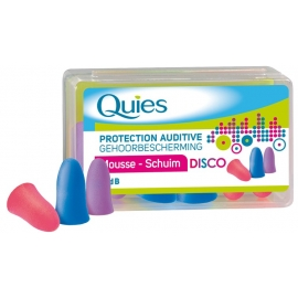 Quies protection Auditive Mousse Confort Disco 3 Paires