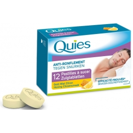 Quies Anti-ronflement Pastilles à Sucer Miel-Citron x 12