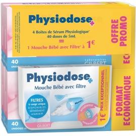 Serum Physiologique 4 x 40 Unidoses 5ml + Mouche Bébé