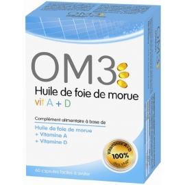 OM3 Huile De Foie De Morue 120 Capsules