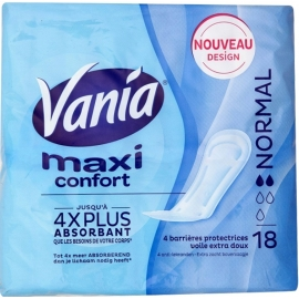 Vania Maxi Confort Serviettes Normal x 18