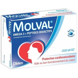 Molval Omega-3 Protection Cardiovasculaire 120 Capsules