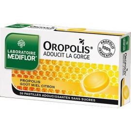 Oropolis Pastille Gorge Sensible 20 Pastilles a Sucer Gout Miel Citron