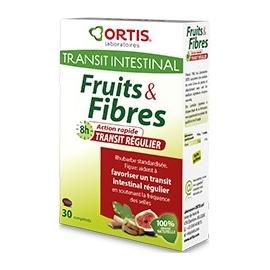 Ortis Fruits & Fibres Transit Régulier 30 Comprimés