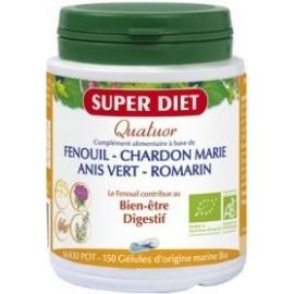 Super Diet Quatuor Bien-être Digestif bio 150 Gélules
