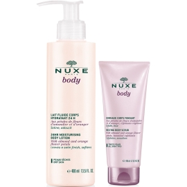Nuxe Body Lait Fluide Corps Hydratant 24h 400 ml + Gommage Corps Fondant 200 ml