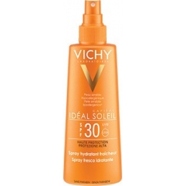 Vichy idéal soleil spf 30 spray hydratant fraîcheur 200 ml