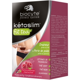 Biocyte Fitness System Kétoslim Fit Tea Draineur 14 Sticks