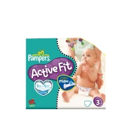 Pampers Active Fit 3 midi 4-9 kg x 31