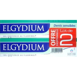 Elgydium Dentifrice Dents Sensibles  Lot de 2 X 75 ml