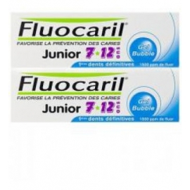 Fluocaril Gel Gout Bubble Junior 7/12 Ans 2 X 50 ML