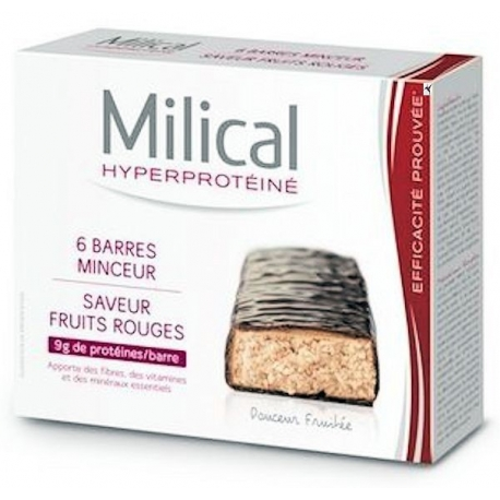 Milical Hyperproteine Saveur Fruits Rouges